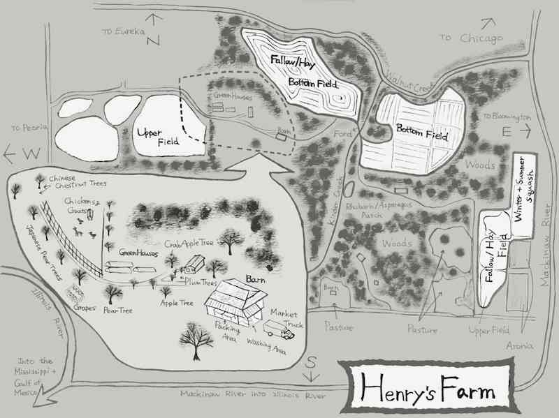 Map of Henry's Farm