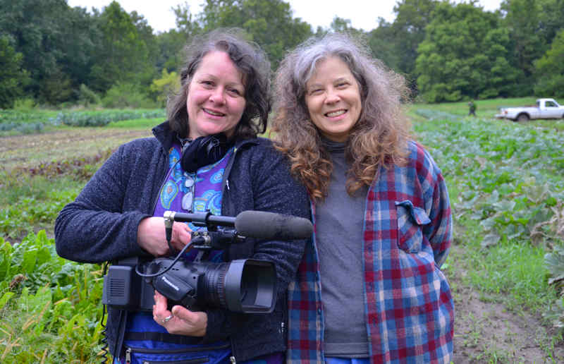 Filmmaker Ines Sommer and Terra Brockman