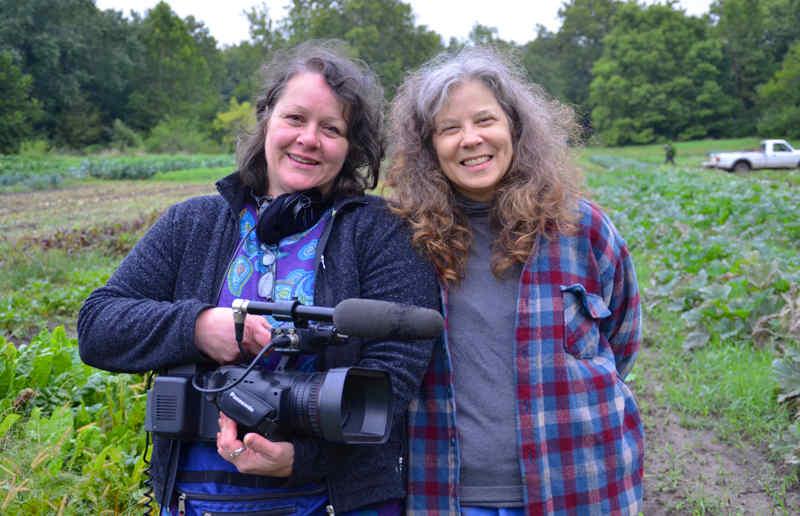 Filmmaker Ines Sommer and Terra Brockman